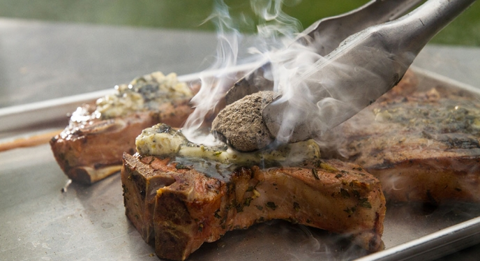 Rosemary Lemon Pork Chops with Ember Smoked Butter