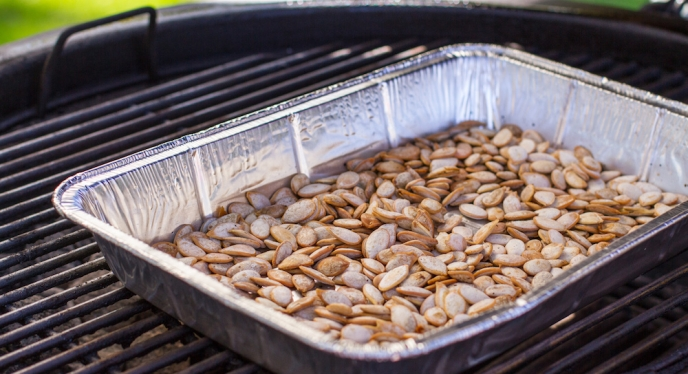 Whole Roasted Pumpkin Seeds on the Grill