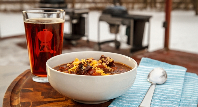 Warm up Your Super Bowl with Steak & Ale Chili