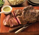 Image of Moroccan-Spiced Leg of Lamb with Herb Butter