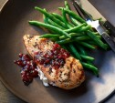 Image of Goat Cheese–Stuffed Chicken Breasts with Cranberry Salsa