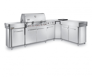 Summit® Grill Center with Right-Hand Social Area