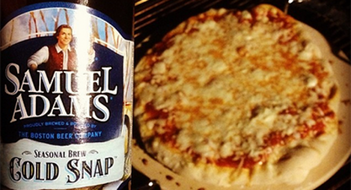 Fight the Chill with the Grill: Buffalo Chicken Pizza with Samuel Adams Boston Lager Infused Crust