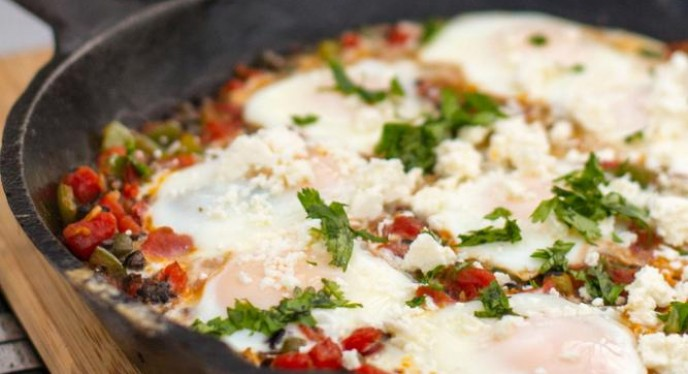 Huevos Veracruz: Breakfast on the grill