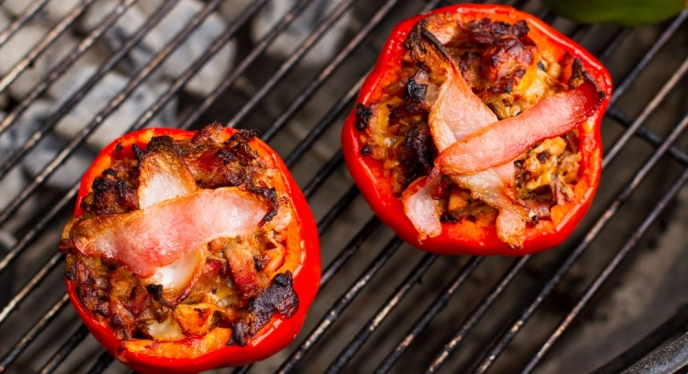 Grilled Stuffed Pork Peppers