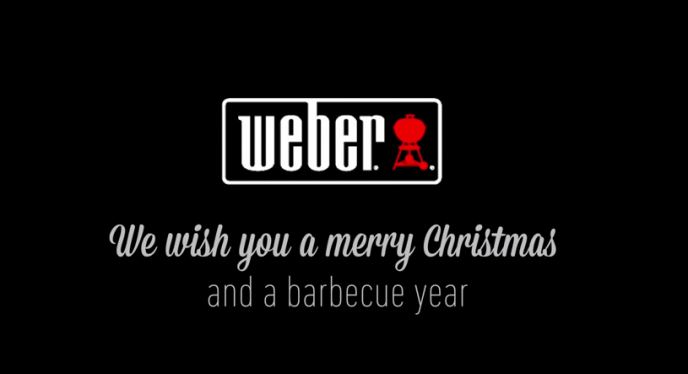 Happy Holidays From All Of Us At Weber