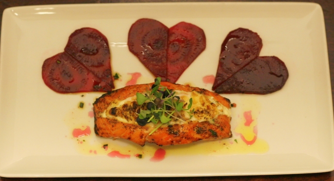 Valentine's Day Dinner- Stuffed Salmon