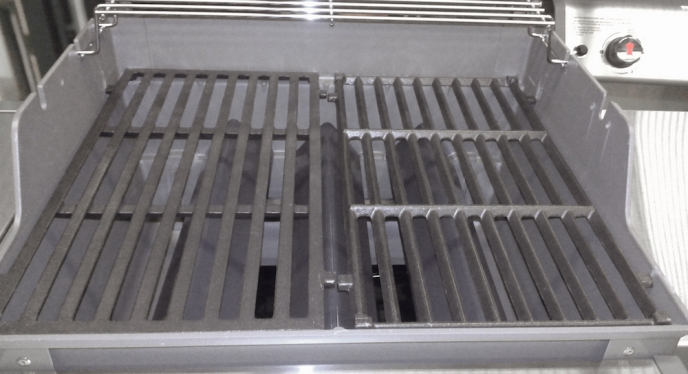 Which Side Faces Up On A Cast Iron Grate?