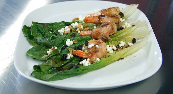 Grilled Romaine Shrimp Salad