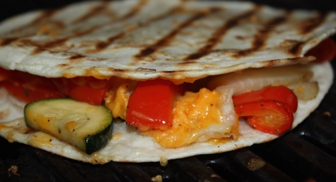 How To Grill Veggie Quesadillas