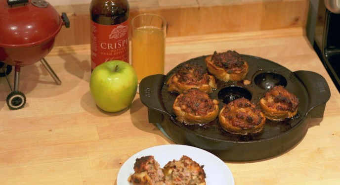 Fall Recipe For Apples Stuffed With Pork And Bacon