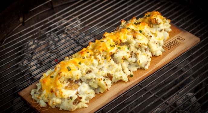 Twice-Baked Planked Potatoes