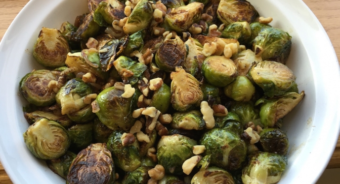 Grilled Brussels Sprouts w/ Balsamic Browned Butter Sauce