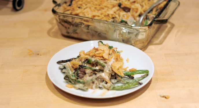 Grilled Green Bean Casserole