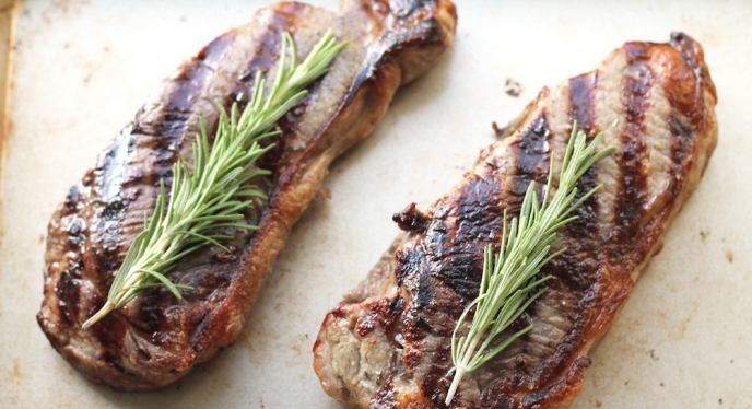 New Year's Eve Dinner: Grilled Steaks With Rosemary-Garlic Butter