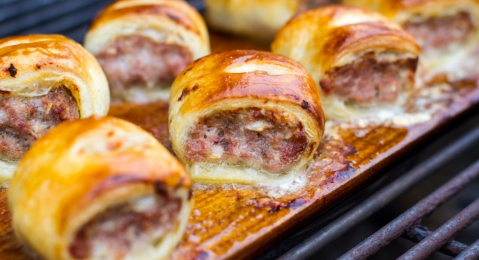 Planked Sausage Rolls