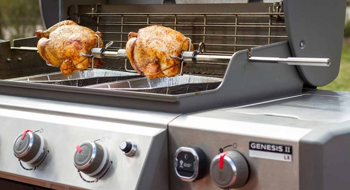 Get The Rotisserie Action Going on Your Genesis II