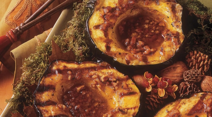 acorn squash grilled acorn squash with cranberry ginger maple syrup ...