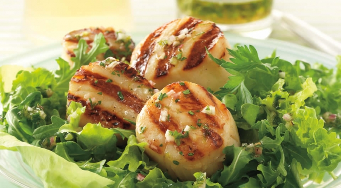 ... citrus scallop summer salad recipes dishmaps citrus scallop summer