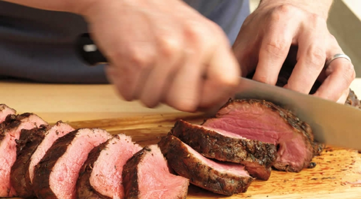 Herb-Crusted Beef Tenderloin Roast with White Wine Cream Sauce Recipe ...