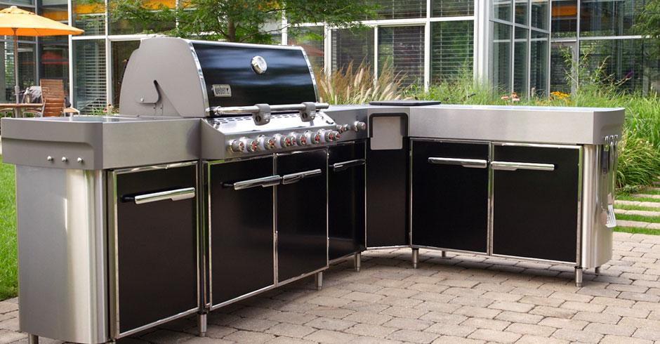 weber summit outdoor grill center. Black Bedroom Furniture Sets. Home Design Ideas